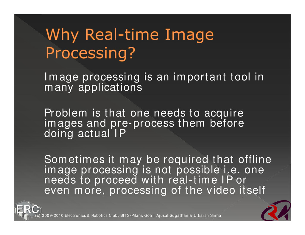 ž Image processing is an important tool in many...