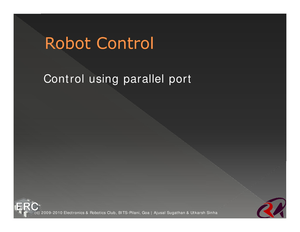 ž Control using parallel port (c) 2009-2010 Ele...