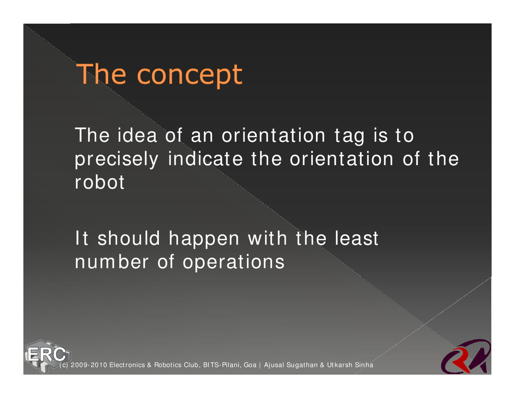 ž The idea of an orientation tag is to precisel...