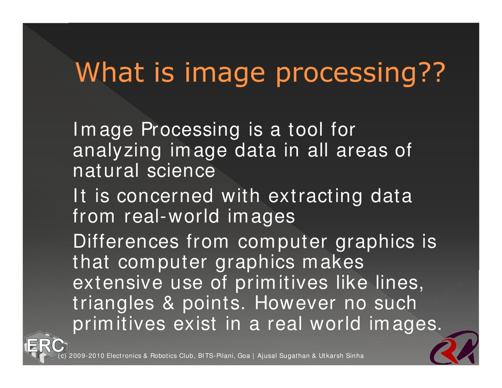 ž Image Processing is a tool for analyzing imag...