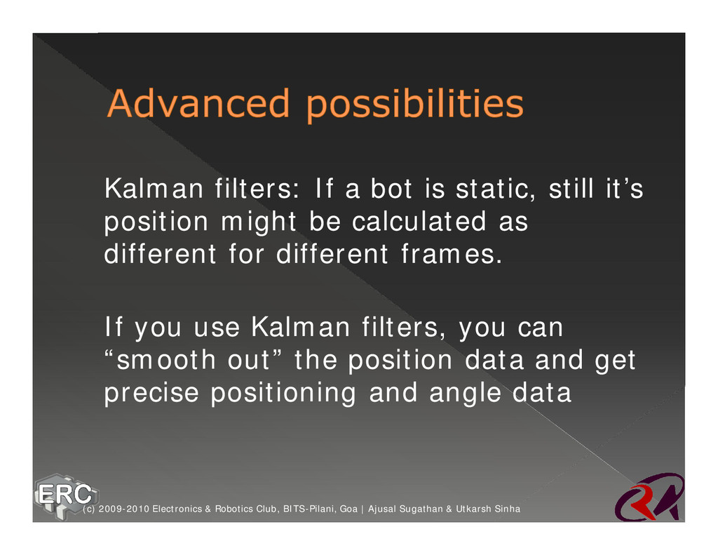 ž Kalman filters: If a bot is static, still it'...