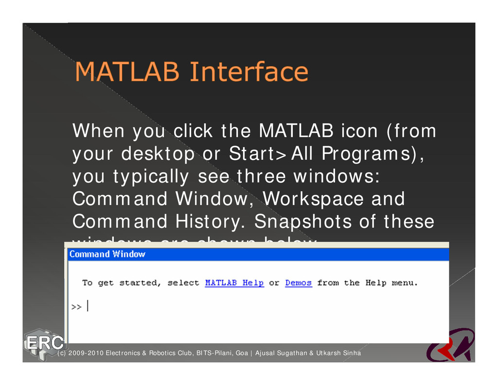 ž When you click the MATLAB icon (from your des...