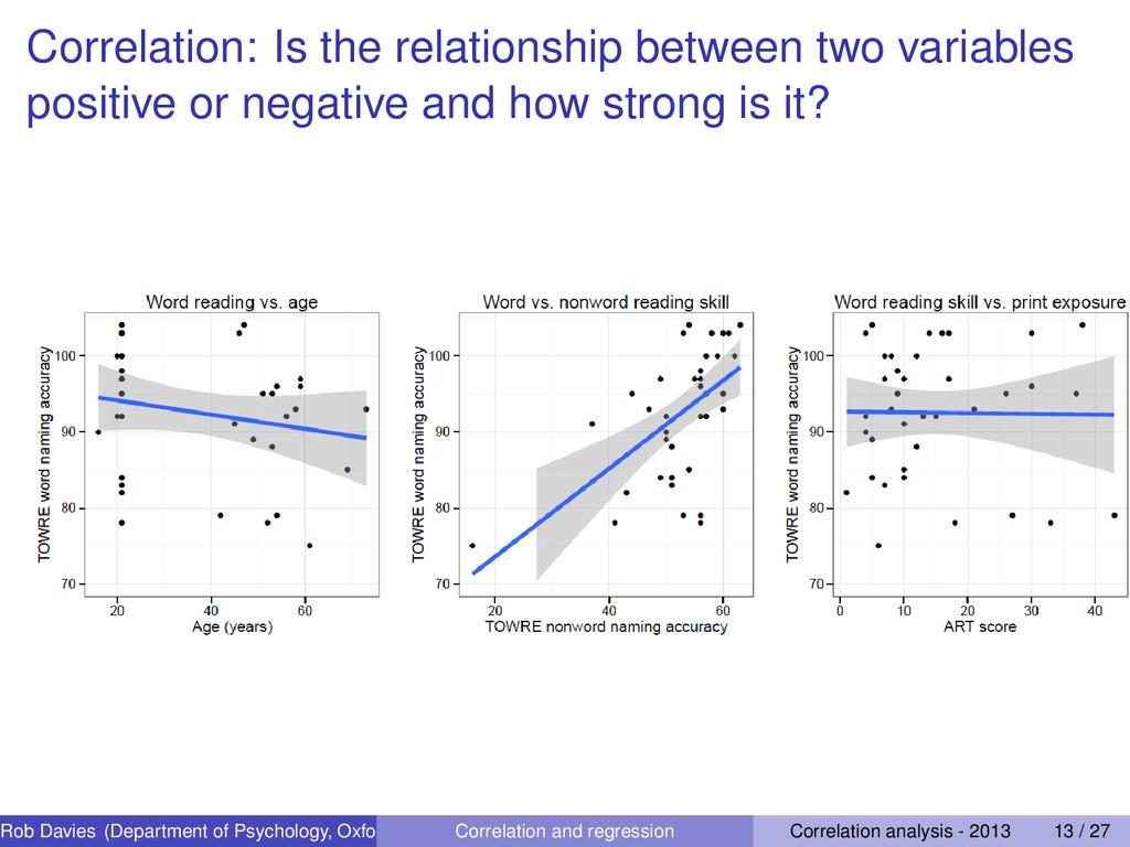 Correlation: Is the relationship between two va...