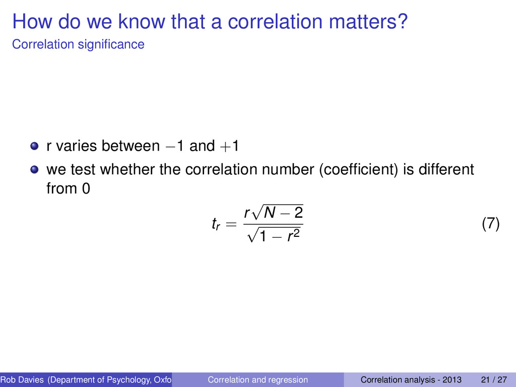 How do we know that a correlation matters? Corr...