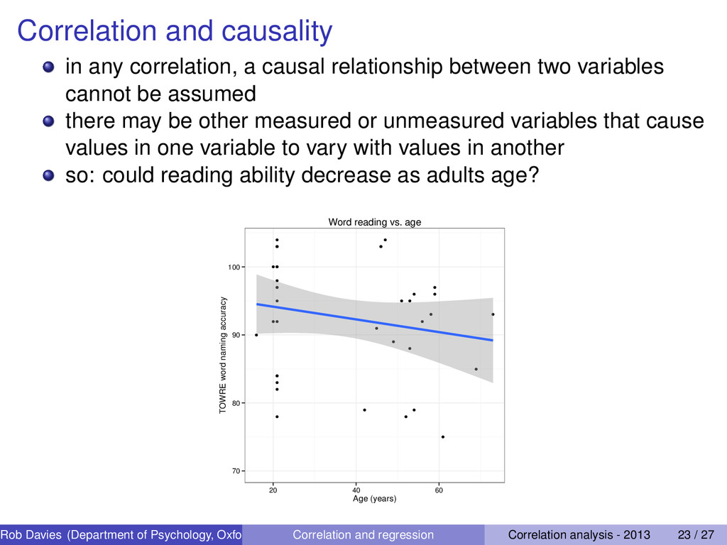 Correlation and causality in any correlation, a...