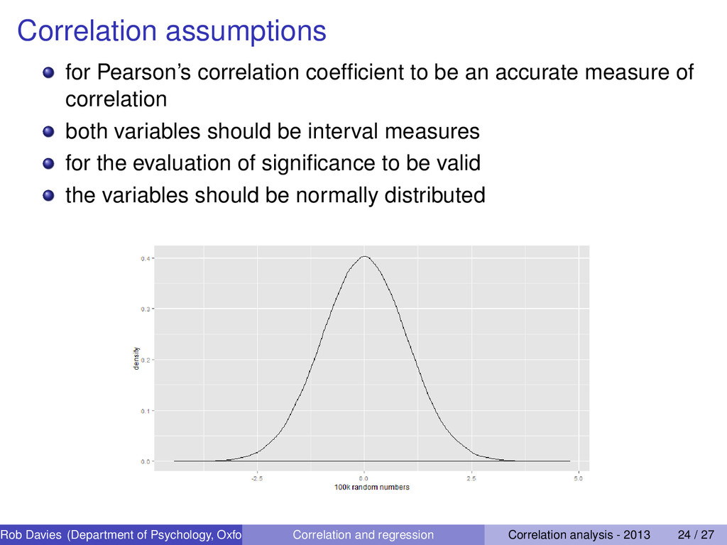 Correlation assumptions for Pearson's correlati...