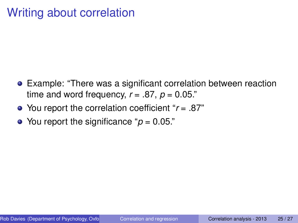 """Writing about correlation Example: """"There was a..."""