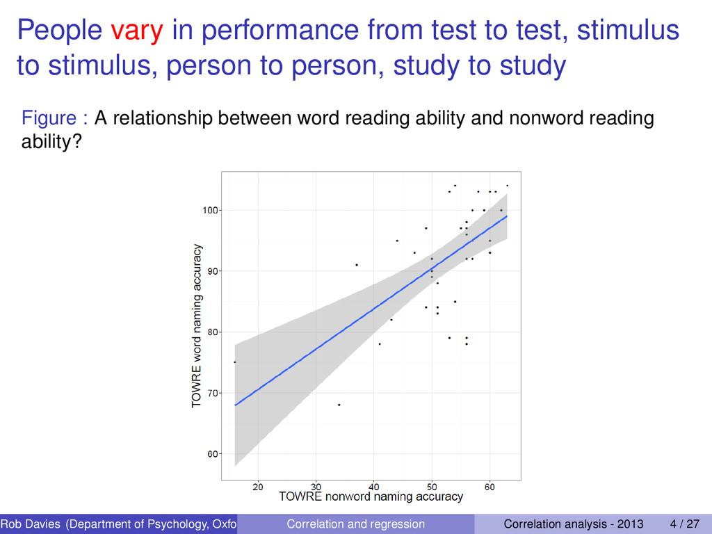 People vary in performance from test to test, s...