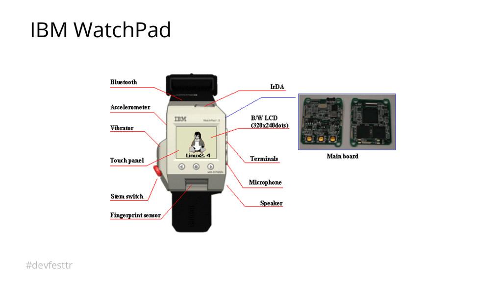 #devfesttr IBM WatchPad