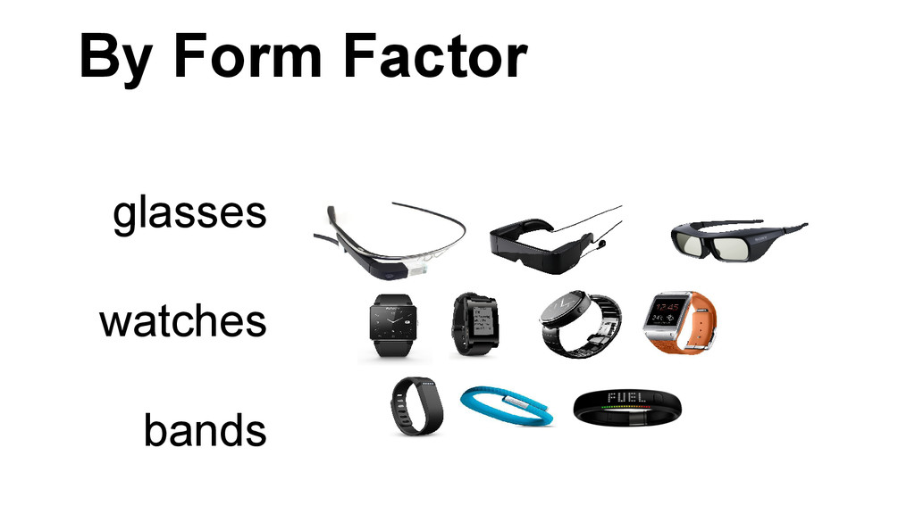 By Form Factor glasses watches bands