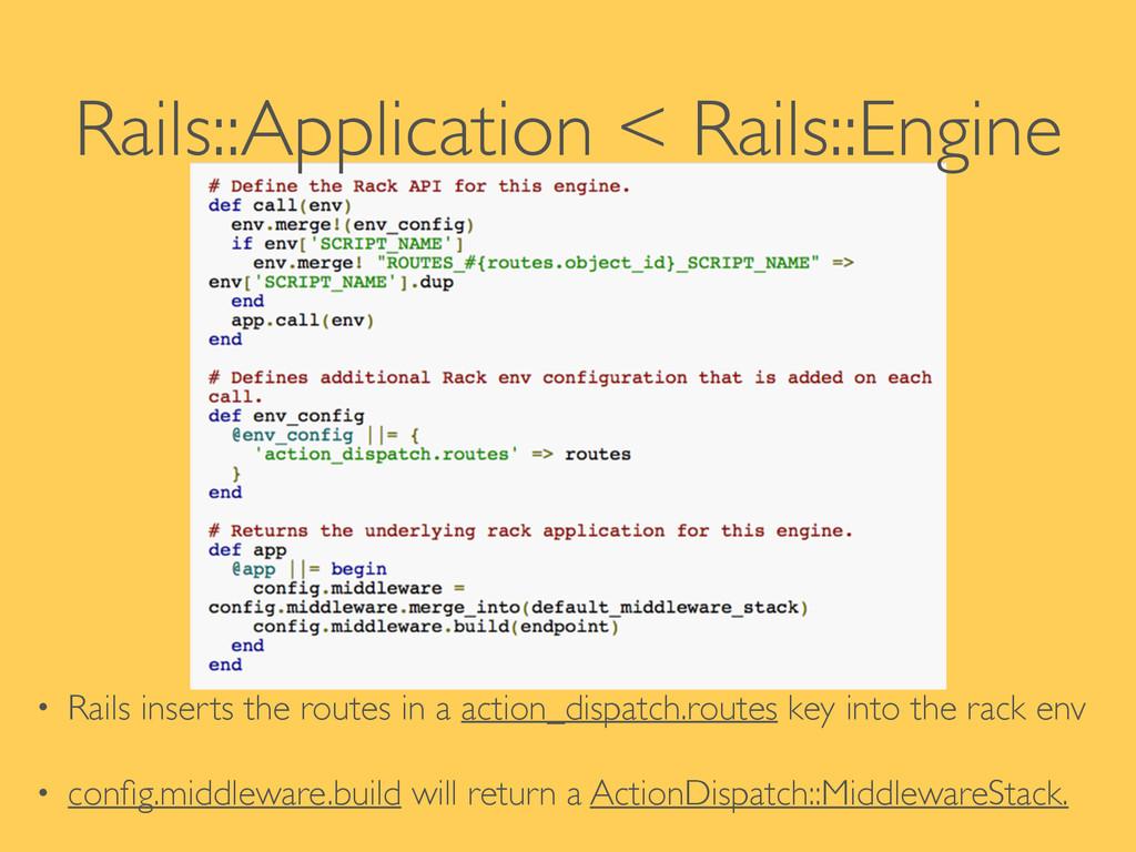 Rails::Application < Rails::Engine ! ! • Rails ...