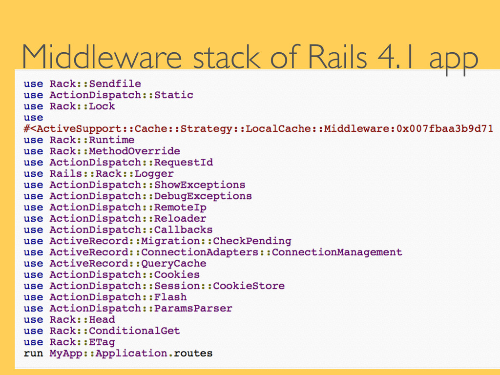 Middleware stack of Rails 4.1 app