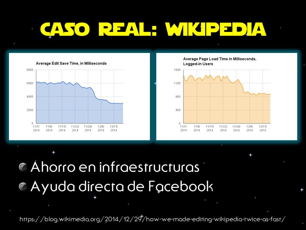 Caso real: wikipedia https://blog.wikimedia.org...