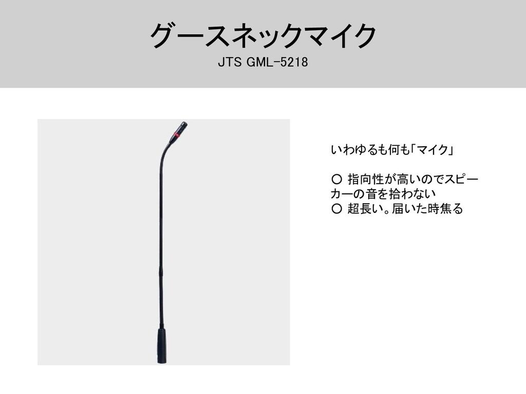 グースネックマイク JTS GML-5218 いわゆるも何も「マイク」  ○ 指向性が...