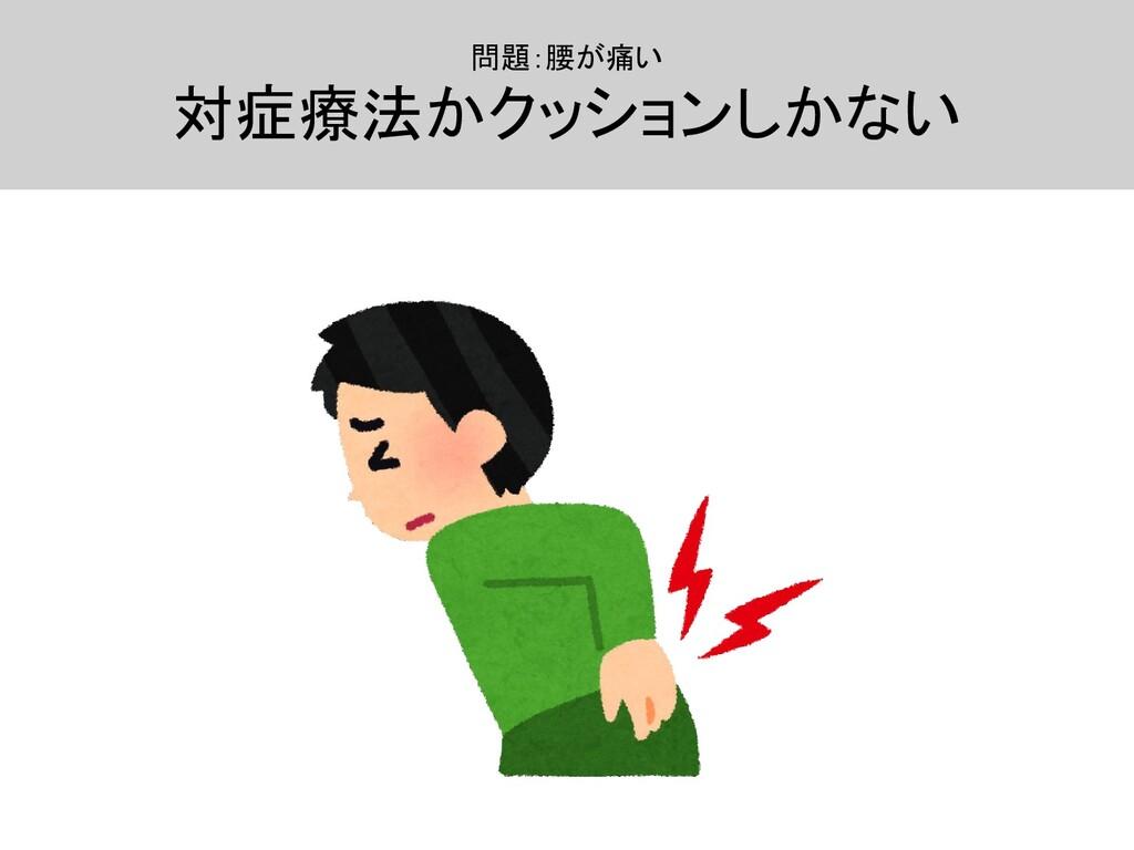 問題:腰が痛い  対症療法かクッションしかない