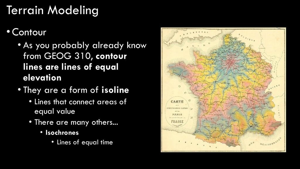 Terrain Modeling •Contour • As you probably alr...