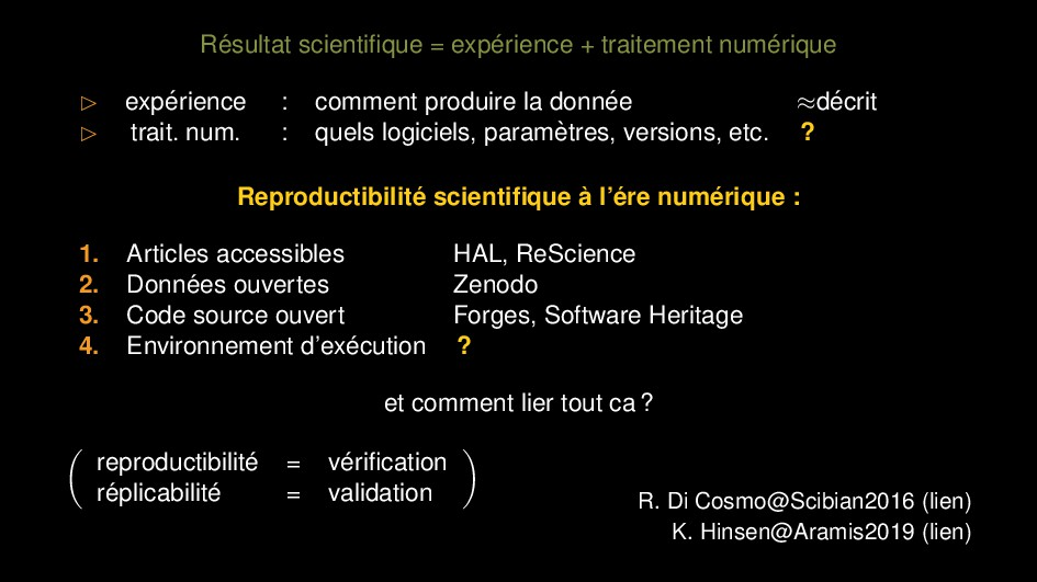 R´ esultat scientifique = exp´ erience + traitem...