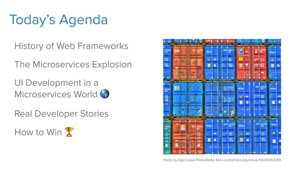 Today's Agenda History of Web Frameworks The Mi...
