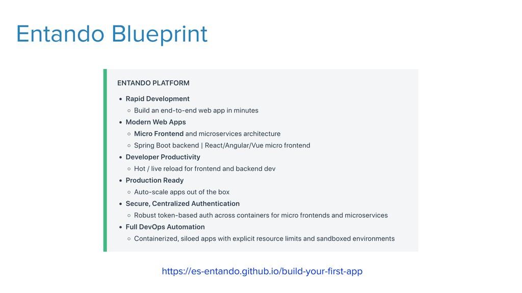 Entando Blueprint https://es-entando.github.io/...
