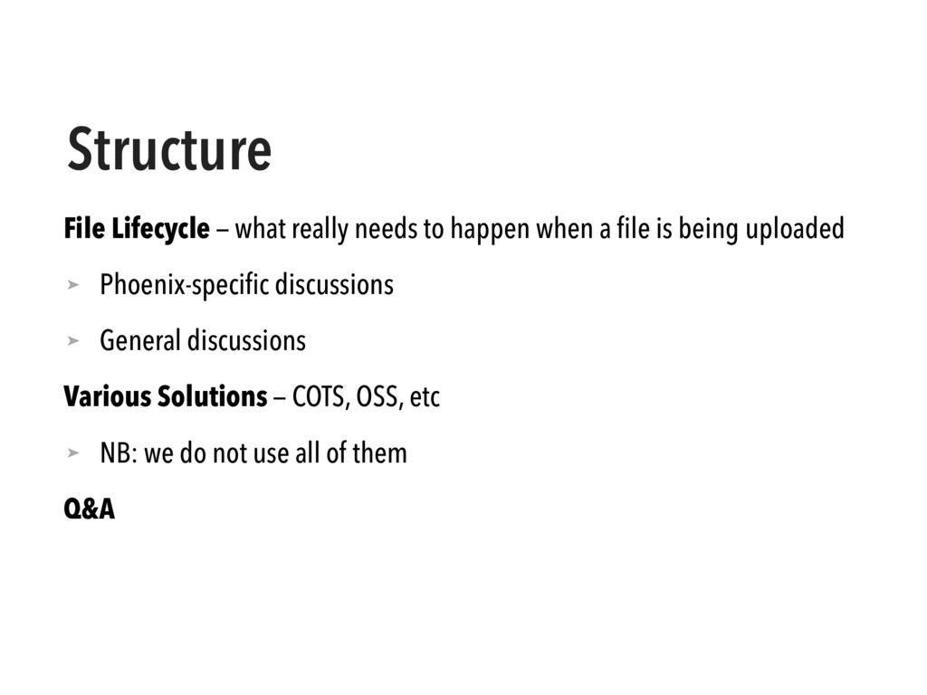 Structure File Lifecycle — what really needs to...