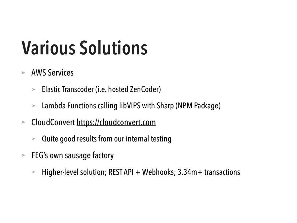 Various Solutions ➤ AWS Services ➤ Elastic Tran...