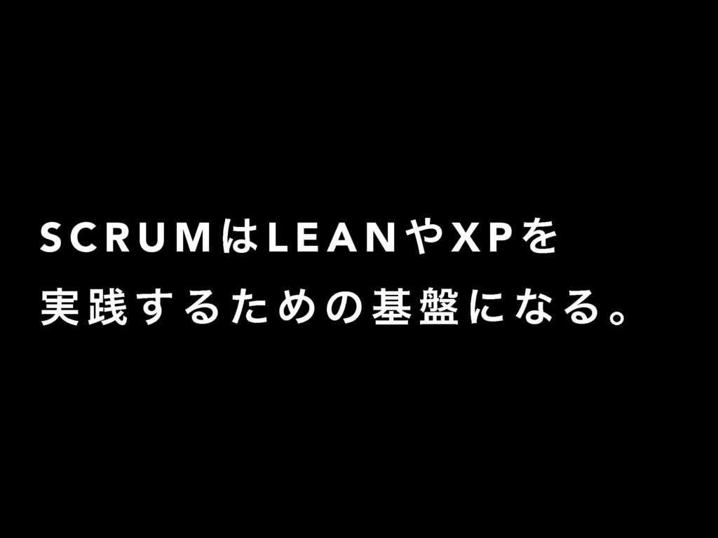S C R U M  L E A N  X P Λ ࣮ ફ ͢ Δ ͨ Ί ͷ ج ൫ ʹ...