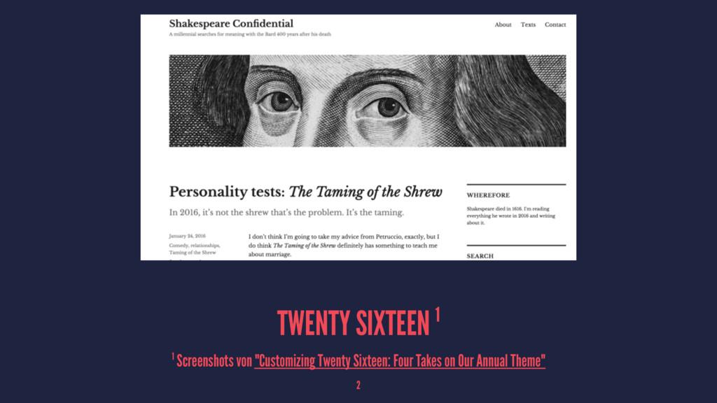"TWENTY SIXTEEN 1 1 Screenshots von ""Customizing..."
