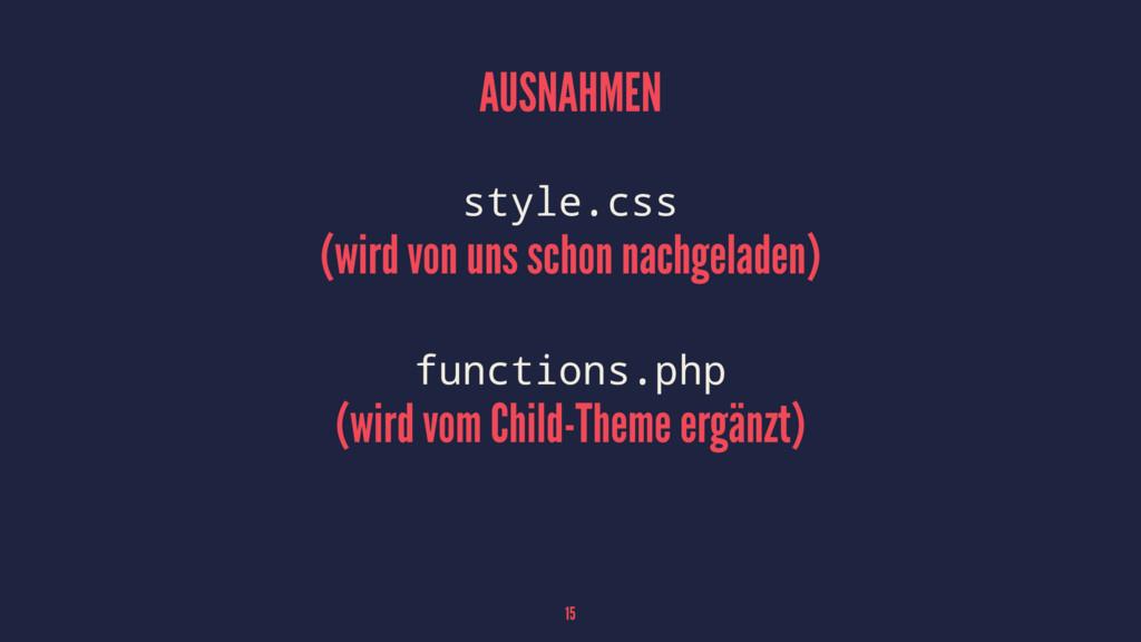 AUSNAHMEN style.css (wird von uns schon nachgel...