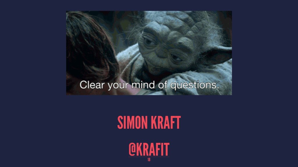 SIMON KRAFT @KRAFIT 18