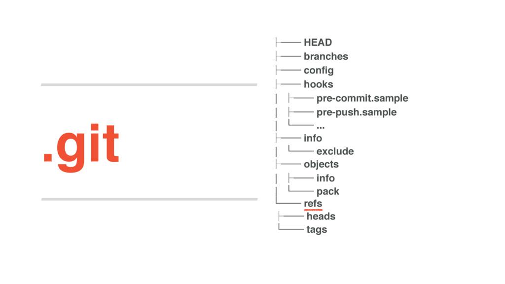 .git ʮ── HEAD ʮ── branches ʮ── config ʮ── hooks...