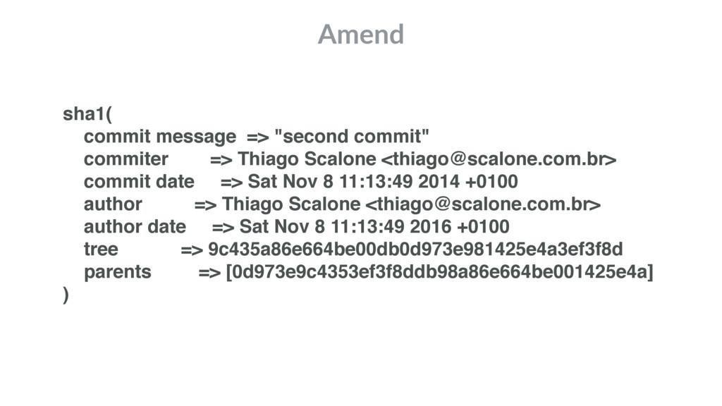 "Amend sha1( commit message => ""second commit"" c..."