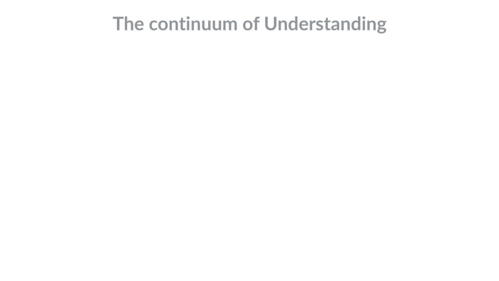 The continuum of Understanding