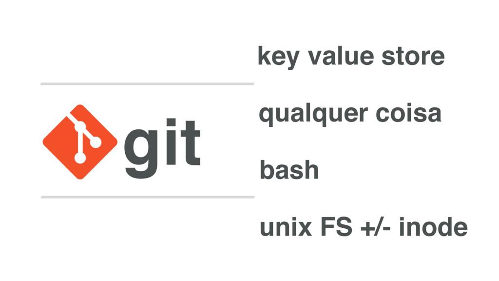 git key value store qualquer coisa bash unix FS...