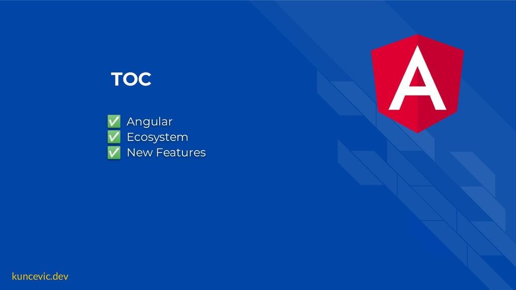 kuncevic.dev TOC ✅ Angular ✅ Ecosystem ✅ New Fe...