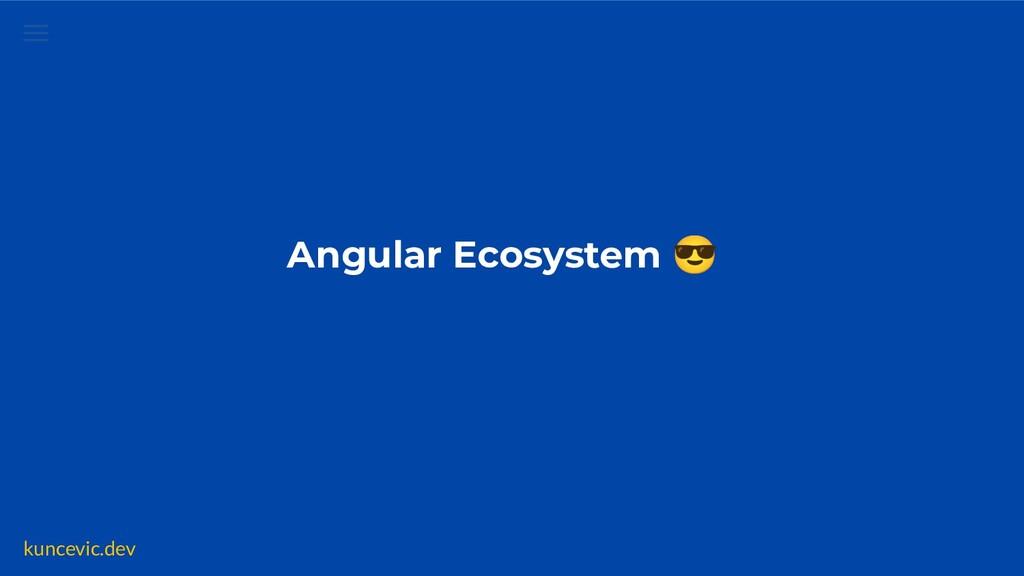 kuncevic.dev Angular Ecosystem 😎