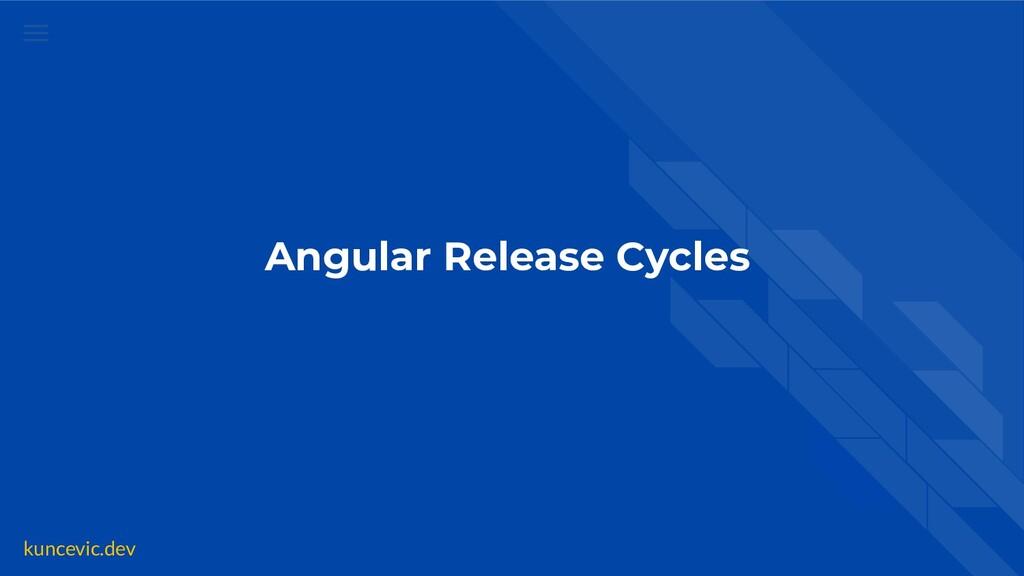 kuncevic.dev Angular Release Cycles