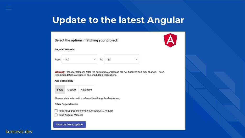 kuncevic.dev Update to the latest Angular