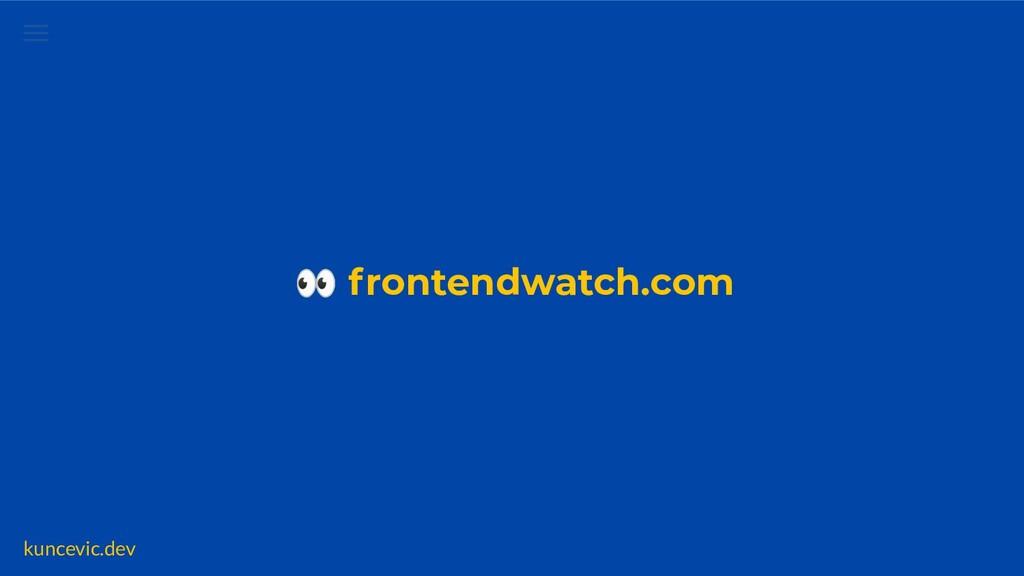 kuncevic.dev 👀 frontendwatch.com