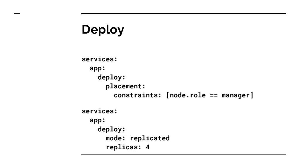 Deploy services: app: deploy: placement: constr...