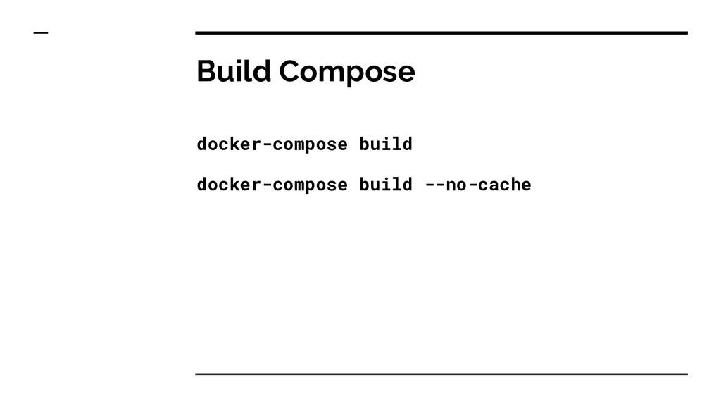 Build Compose docker-compose build docker-compo...