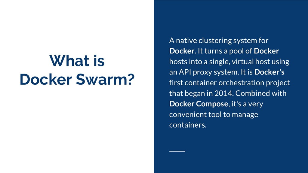 What is Docker Swarm? A native clustering syste...