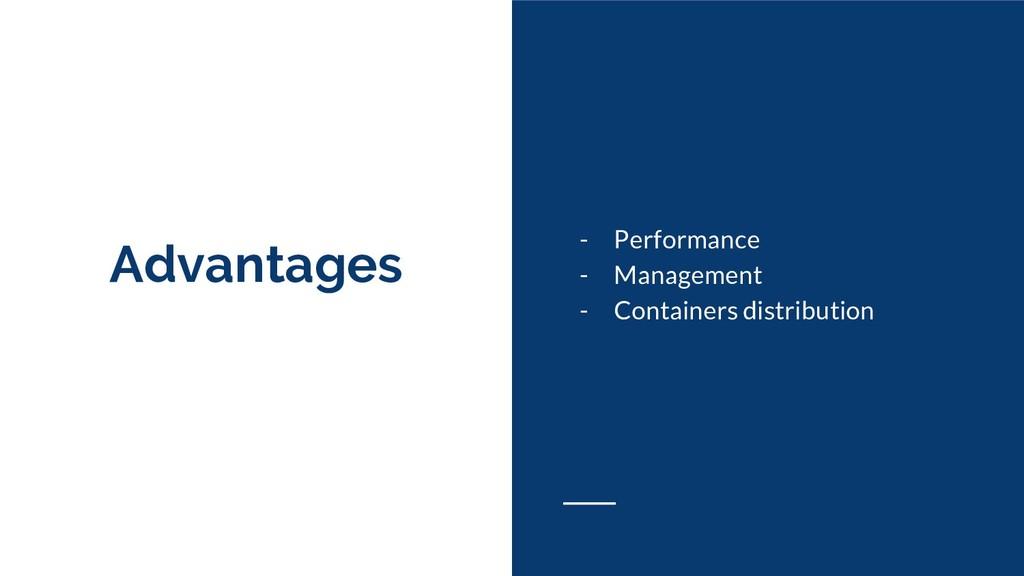 Advantages - Performance - Management - Contain...