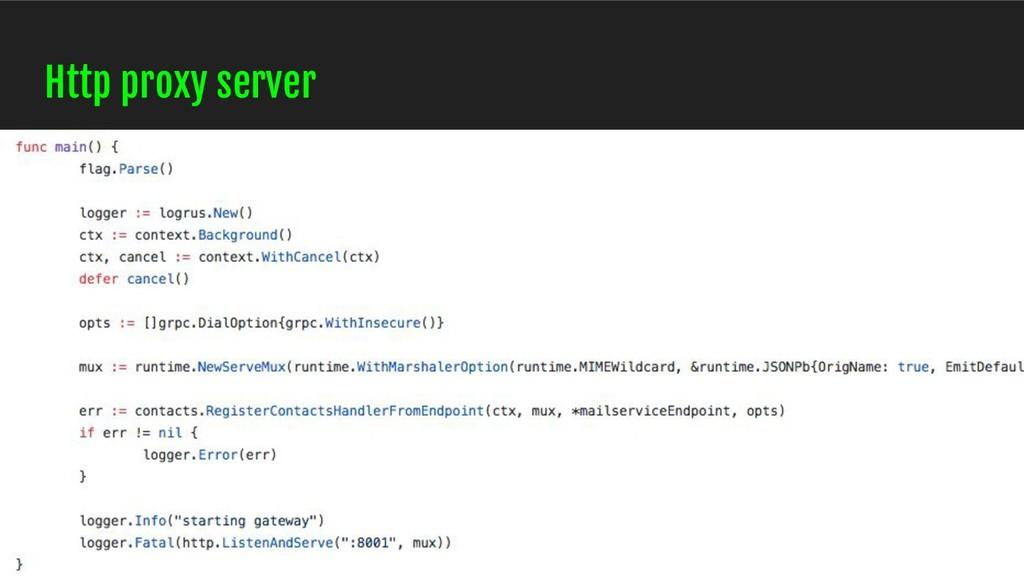 Http proxy server