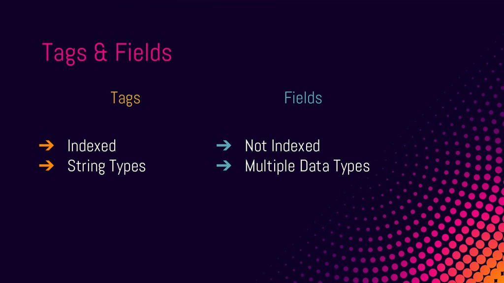 Fields ➔ Not Indexed ➔ Multiple Data Types Tags...