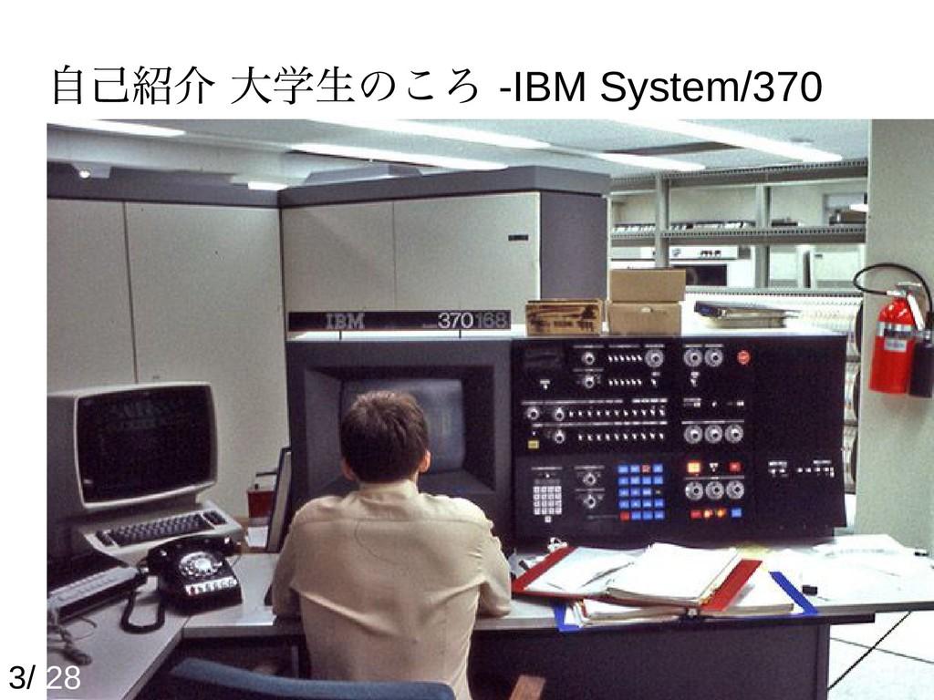 自己紹介 大学生のころ -IBM System/370 3/ 28