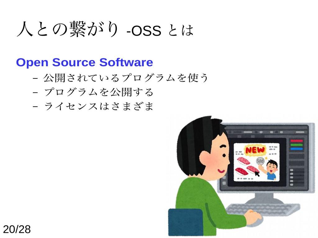 人との繋がり -OSS とは Open Source Software – 公開されているプロ...
