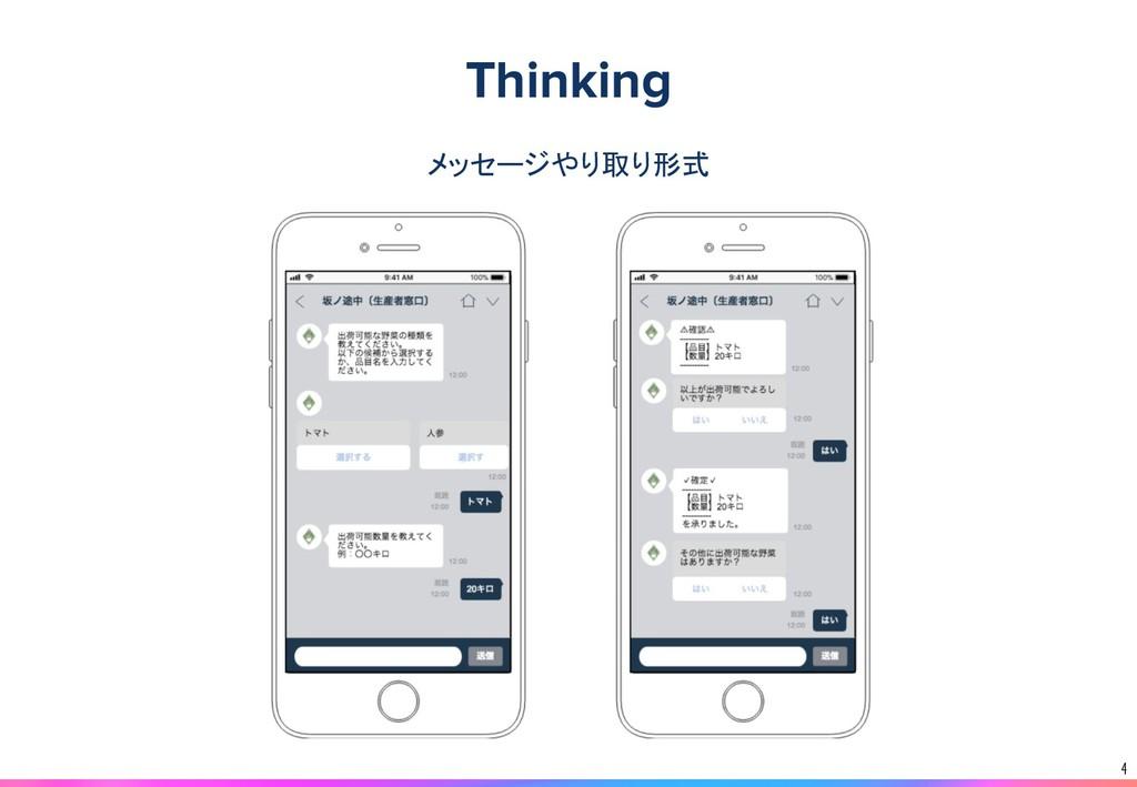 4 メッセージやり取り形式 Thinking