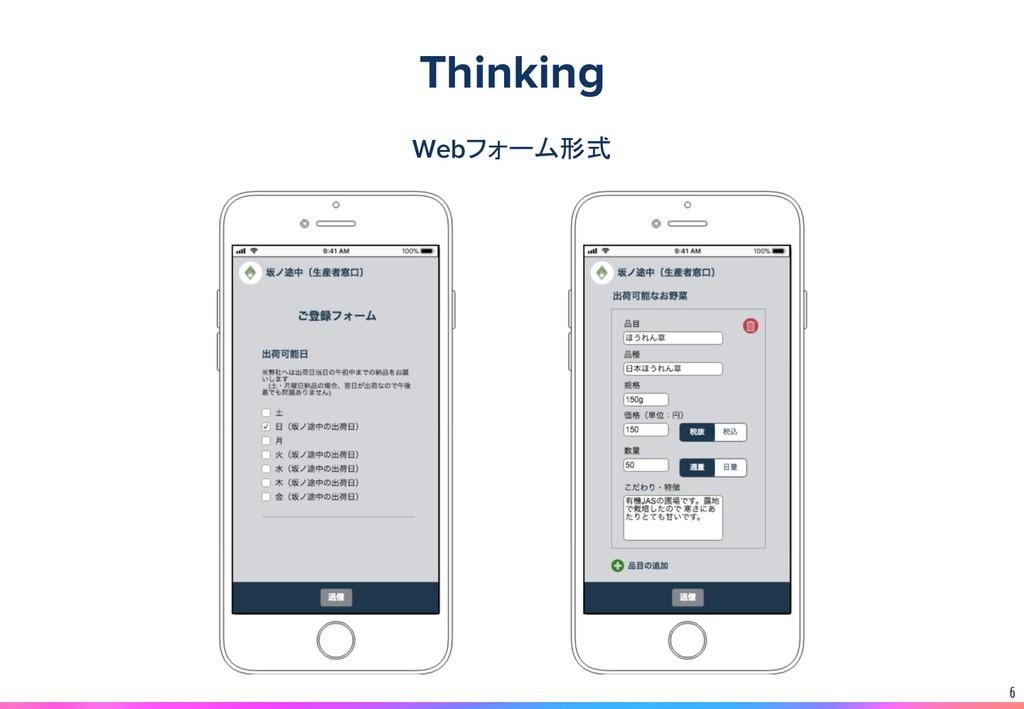 6 Webフォーム形式 Thinking