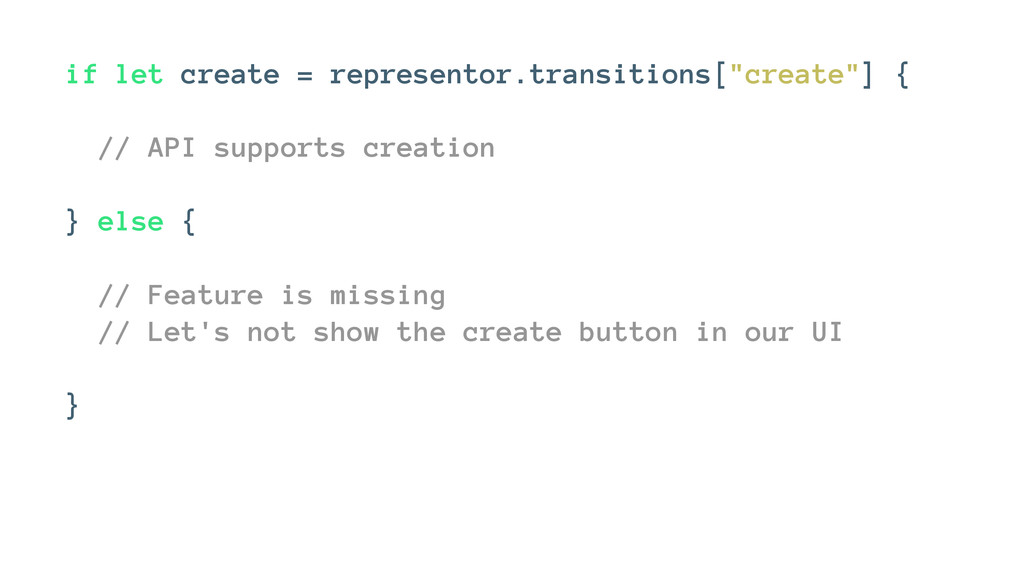 "if let create = representor.transitions[""create..."