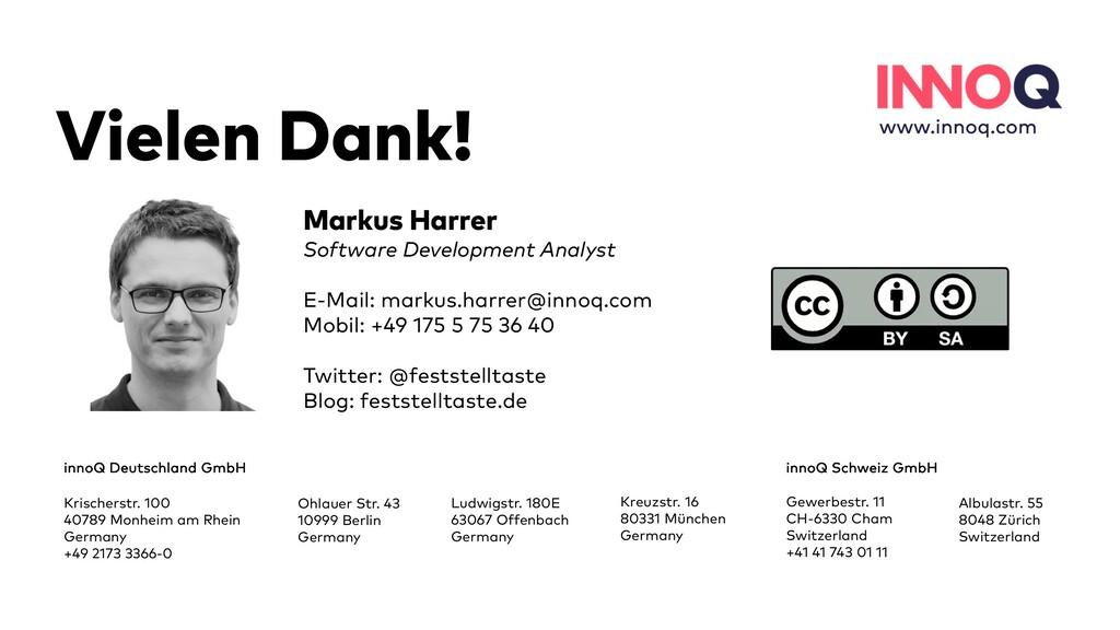 37 Vielen Dank! innoQ Deutschland GmbH Krischer...